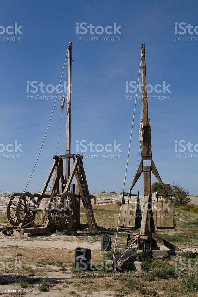 Catapults stock photo