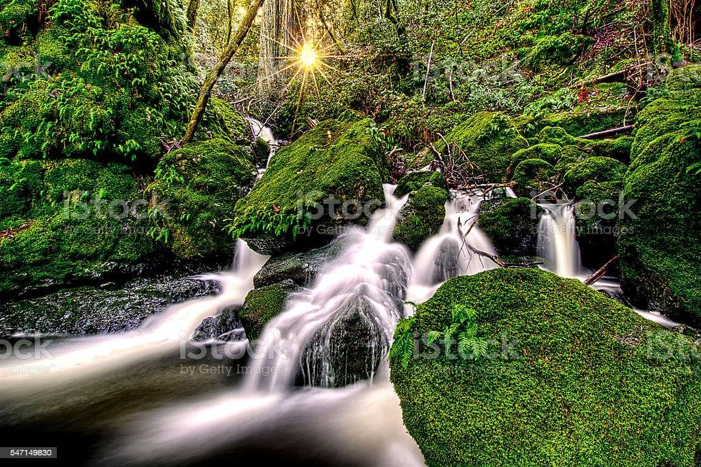 Cataract Falls Fairfax Ca. stock photo
