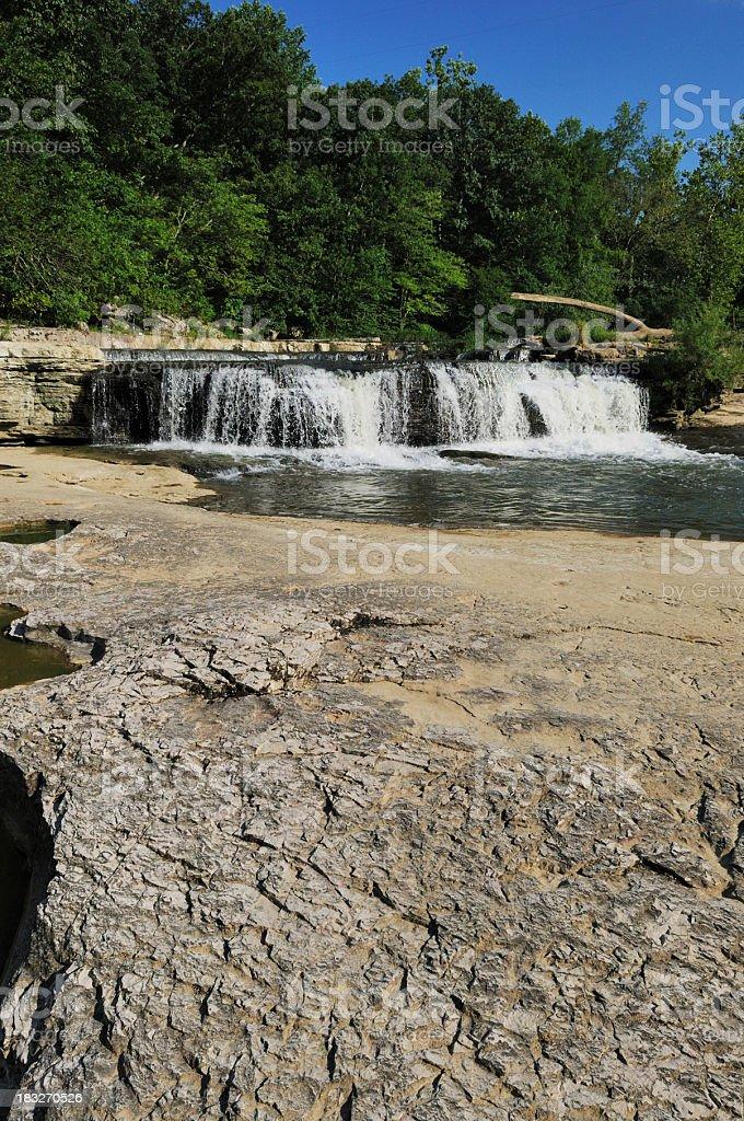 Cataract Falls State Park Indiana Historic Upper Waterfall stock photo