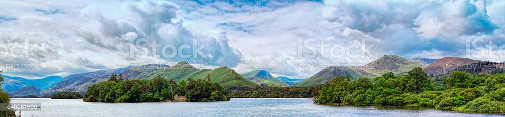 Catbells Across Derwent Water In the Lake District stock photo
