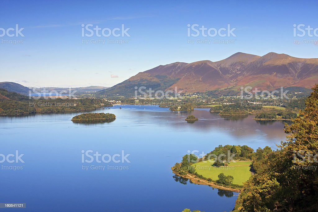Catbells in the English Lake District stock photo