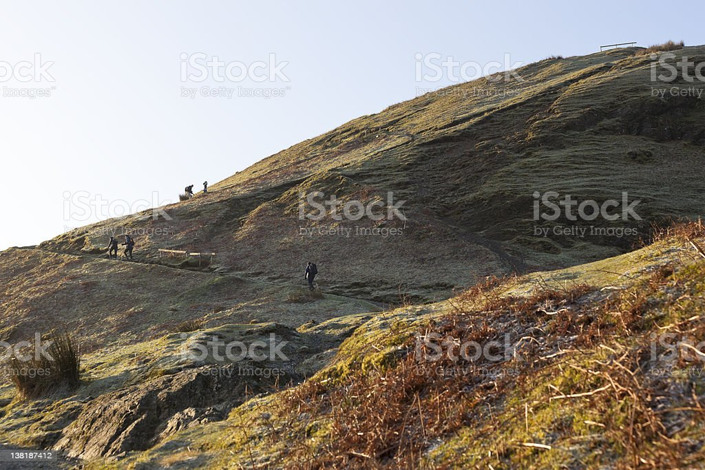Catbells Walkers royalty-free stock photo