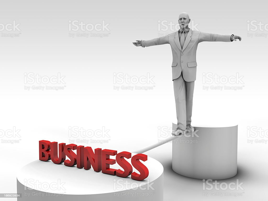 Catch a business royalty-free stock photo