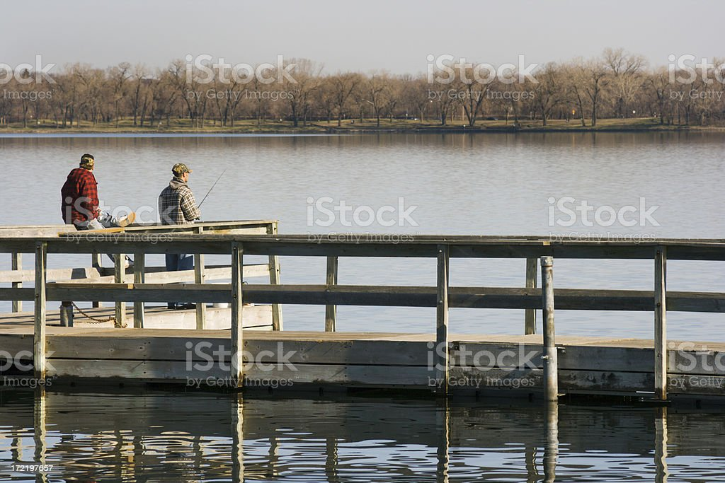 Catch at the Dock royalty-free stock photo