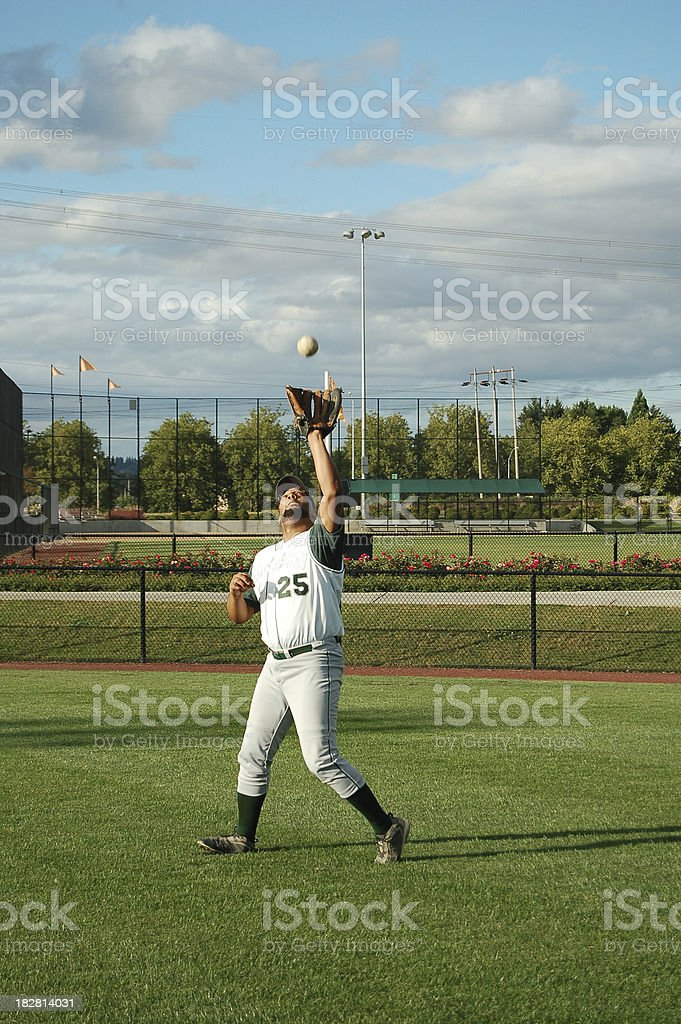 Catch in the Outfield royalty-free stock photo