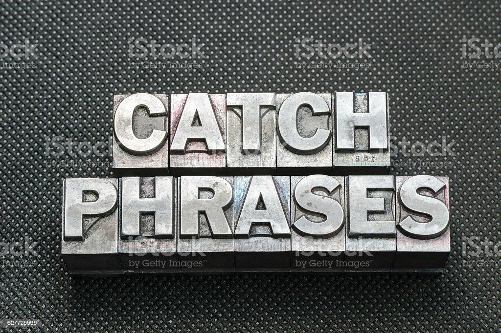 catch phrases bm stock photo
