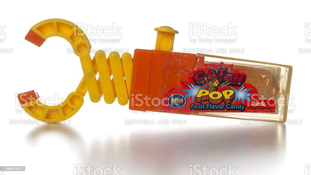 Catch Pop Fruit Peach Flavor Candy toy royalty-free stock photo