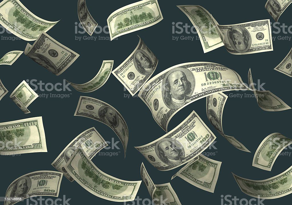Catch the Falling Money royalty-free stock photo