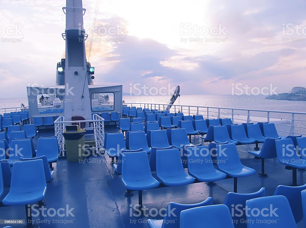 Catch the first ferry of the day stock photo