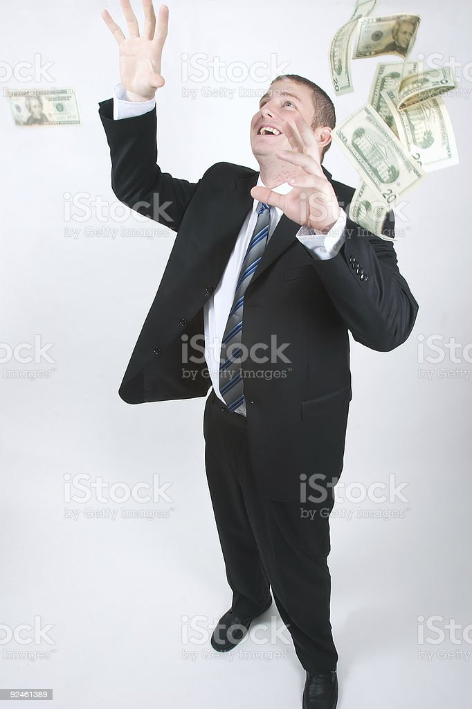Catch the money royalty-free stock photo