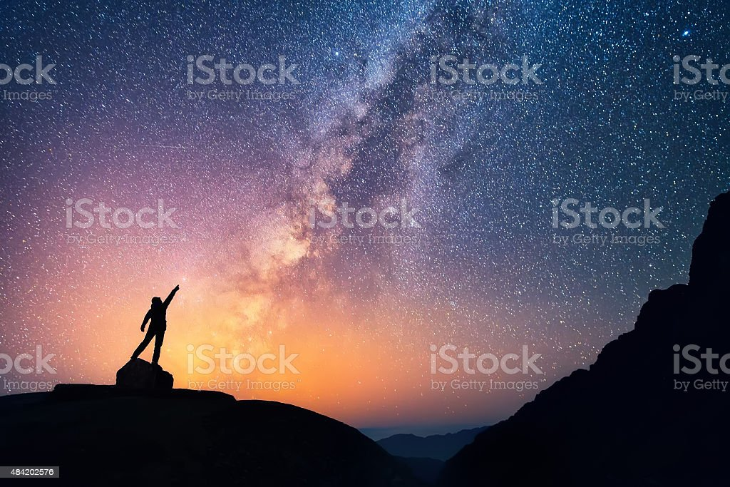 Catch the Star stock photo