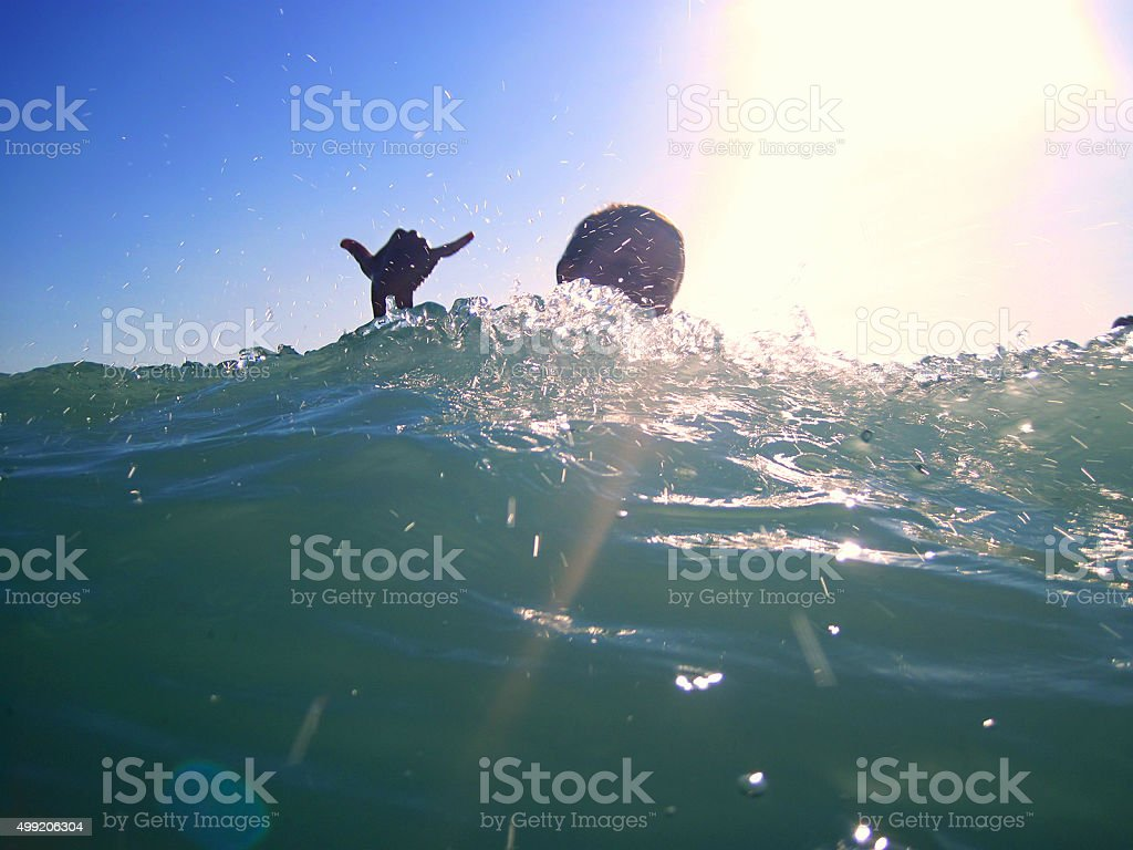 Catch the wave stock photo