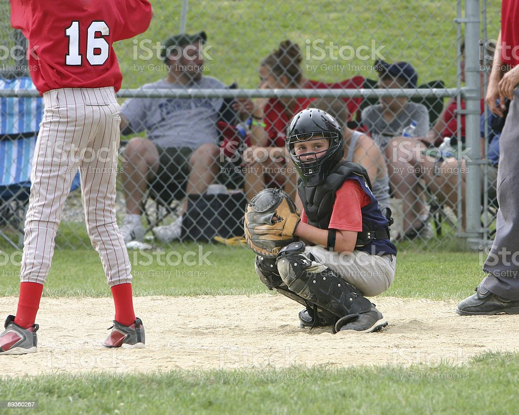 catcher gets the sign - chase royalty-free stock photo