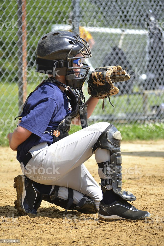 Catcher stock photo