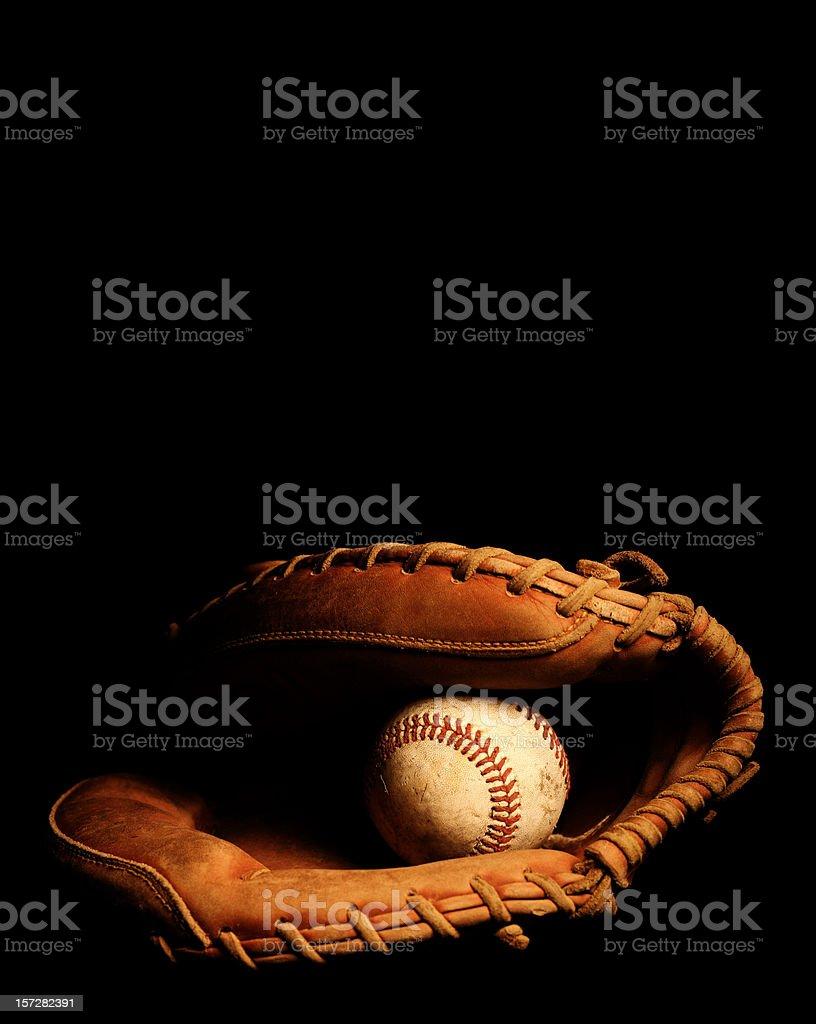 Catchers Glove and Baseball royalty-free stock photo