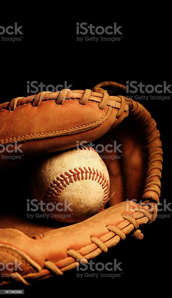 Catchers Glove and Dirty Baseball royalty-free stock photo