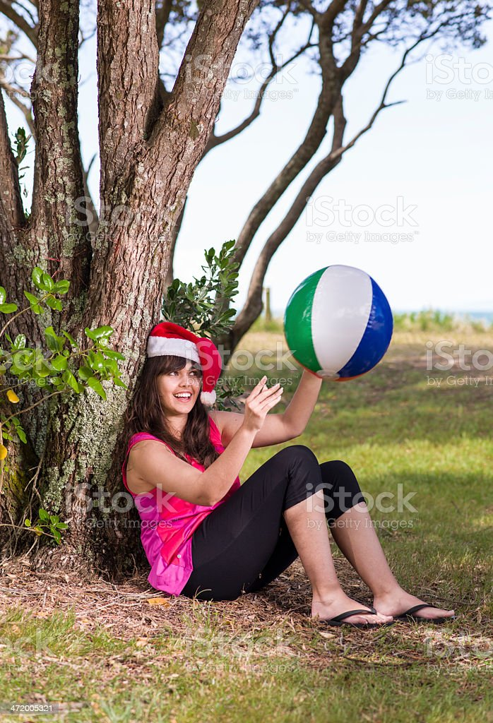 Catching a ball stock photo