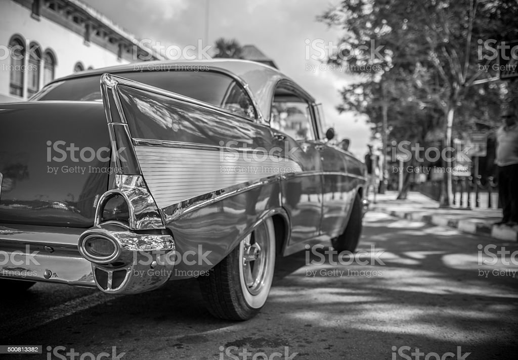 Catching a cab ride in Old Havana stock photo