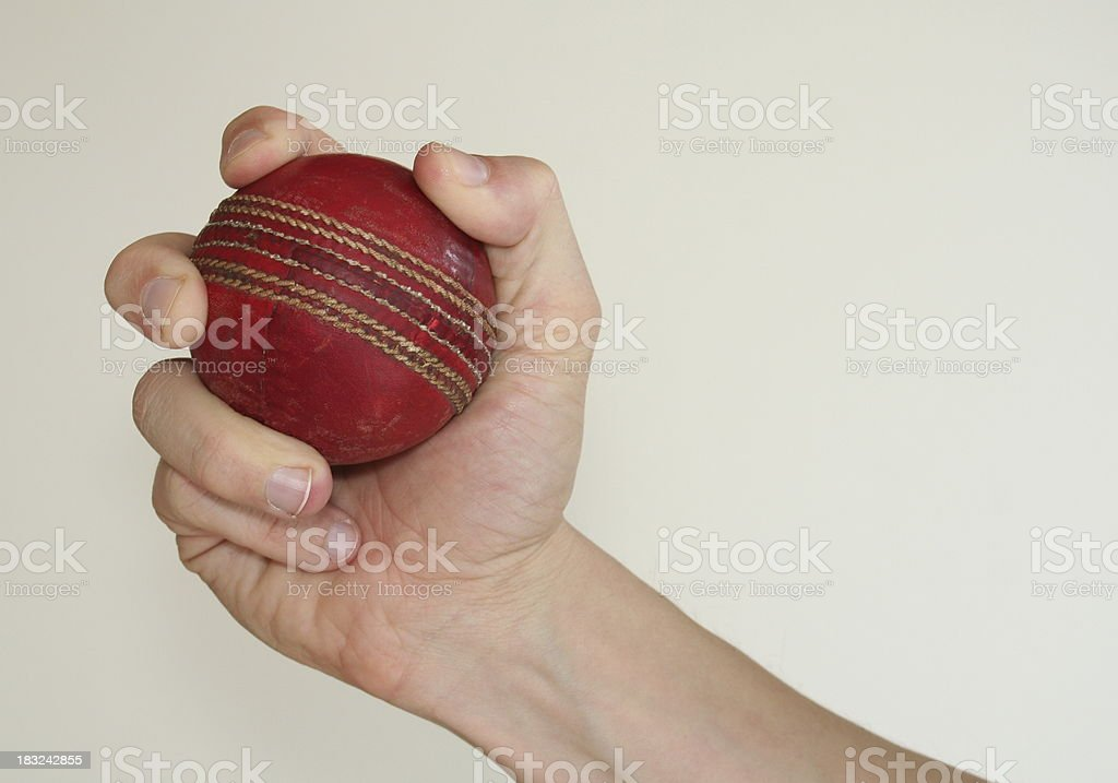 Catching a Cricket Ball stock photo