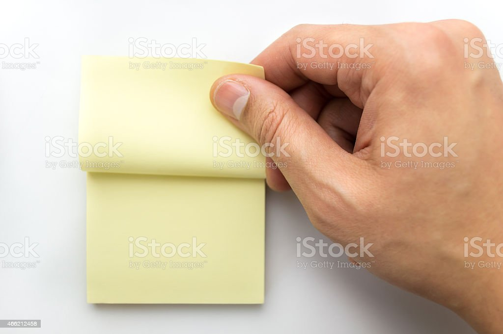 catching a note stock photo