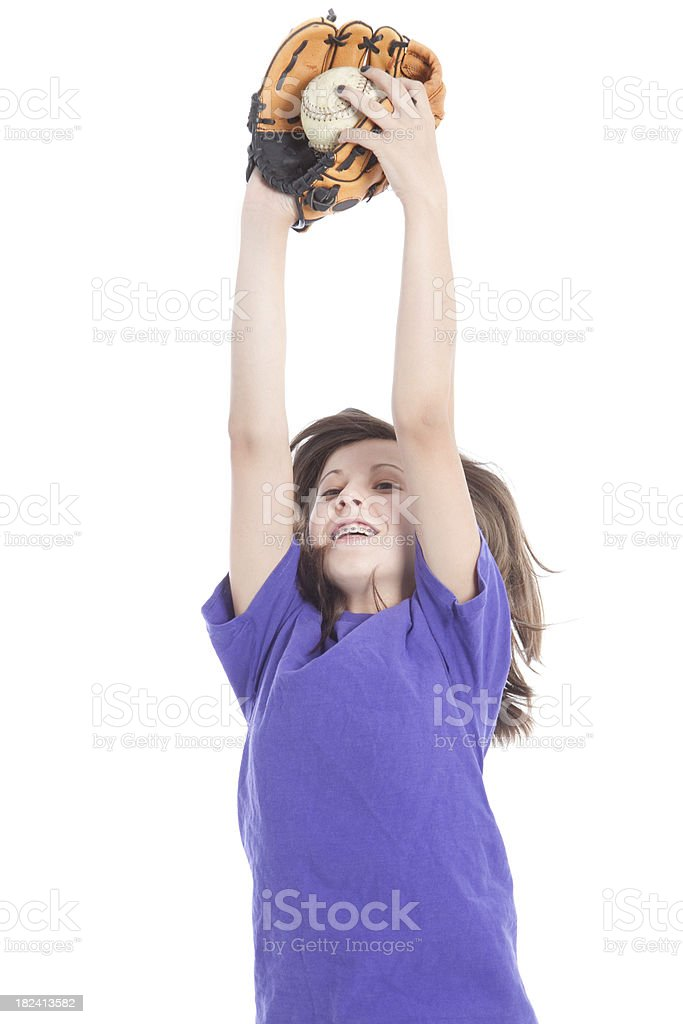 Catching Ball royalty-free stock photo