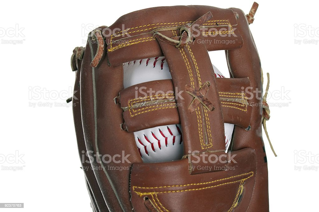 Catching Baseball stock photo