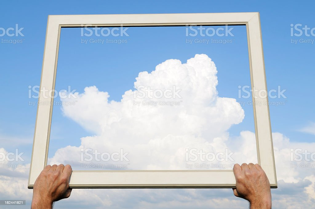Catching Clouds.Copy Space stock photo