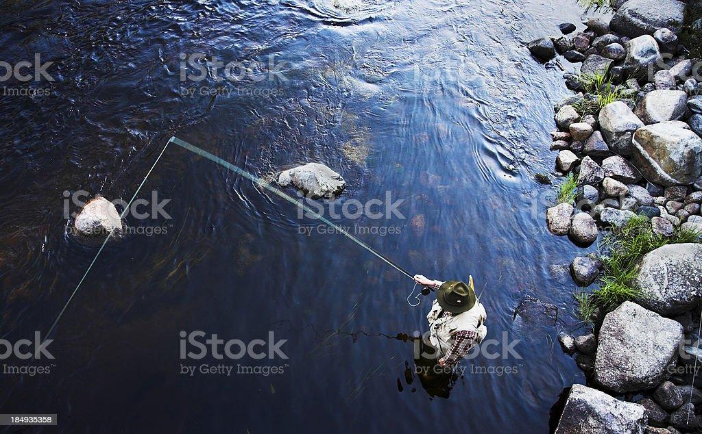 catching fish stock photo