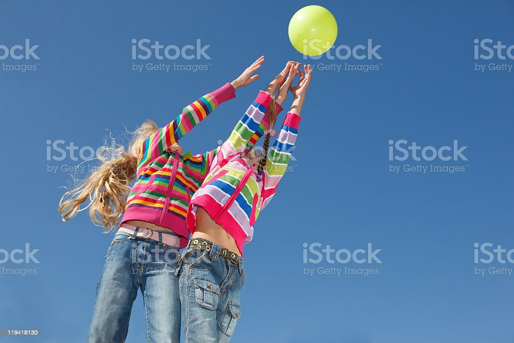 Catching the ball royalty-free stock photo