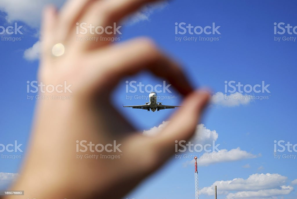 Catching the plane royalty-free stock photo
