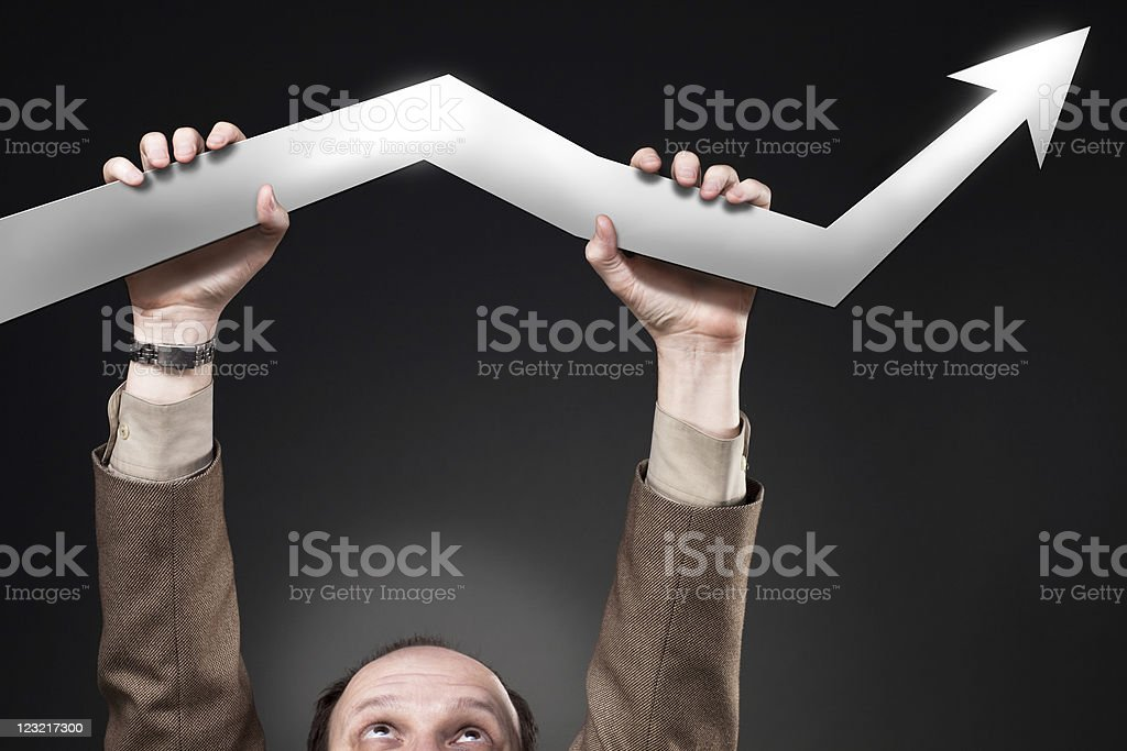 Catching the success stock photo