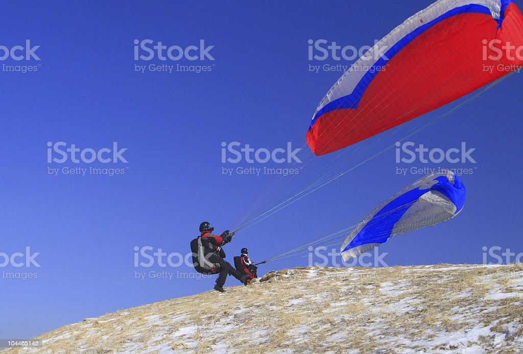 Catching the wind royalty-free stock photo