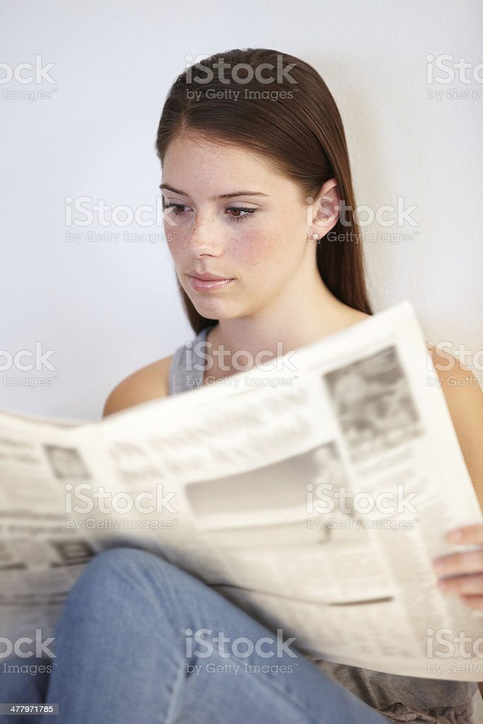 Catching up on daily news stock photo