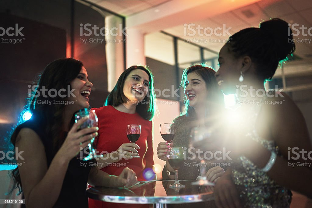 Catching up over some drinks stock photo