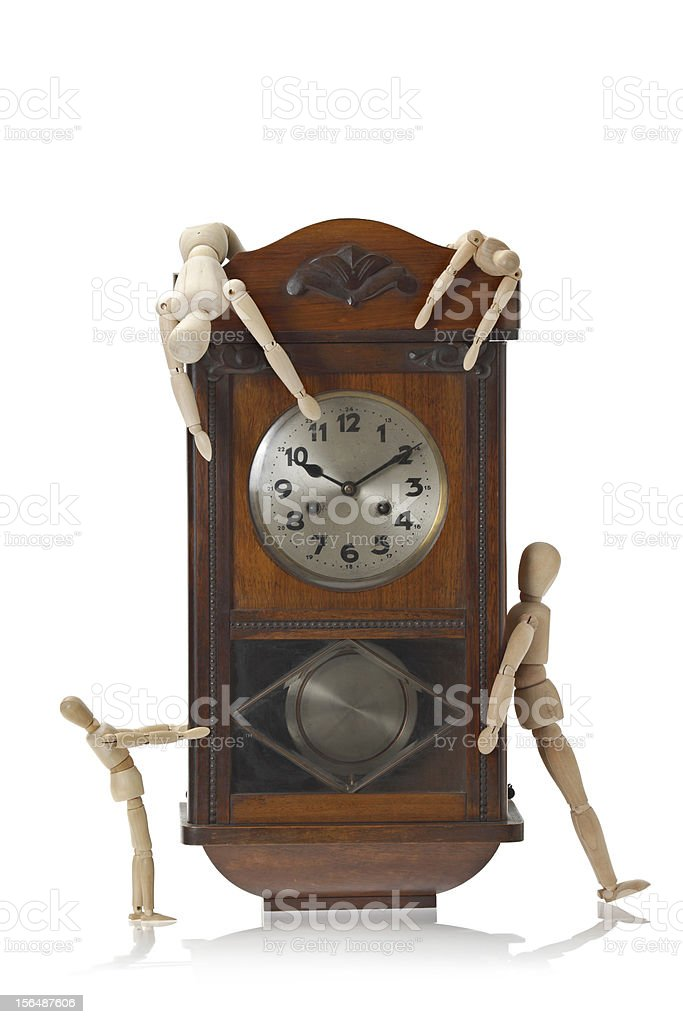 Catching  Up The Time stock photo