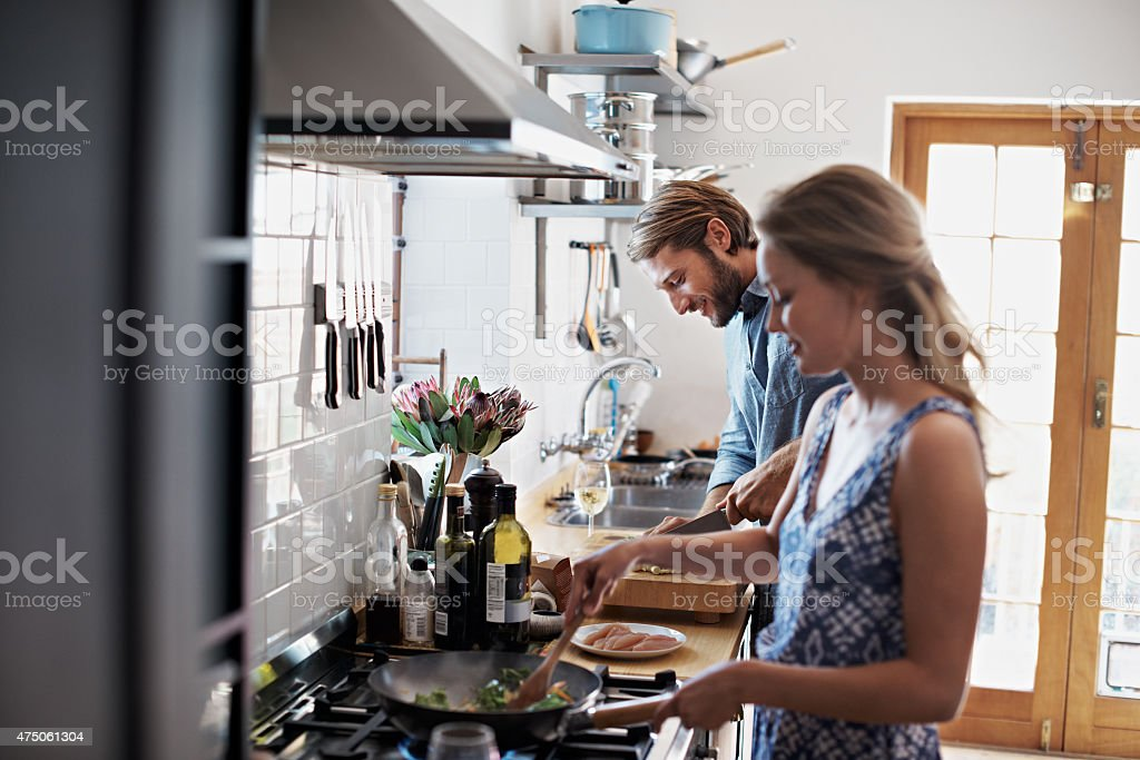 Catching up together over dinner stock photo