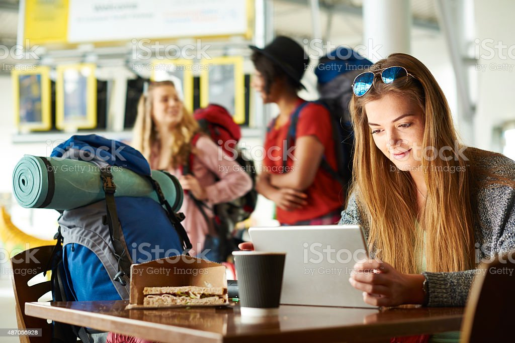 Catching up with the world stock photo