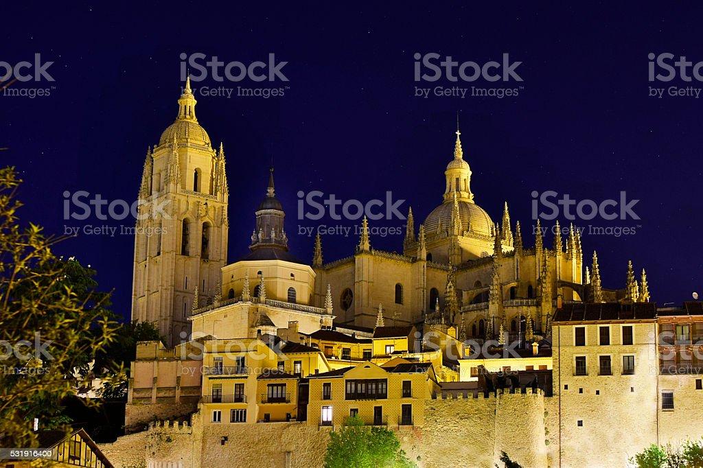 Catedral de Santa María / Cathedral of Santa María de Segovia stock photo