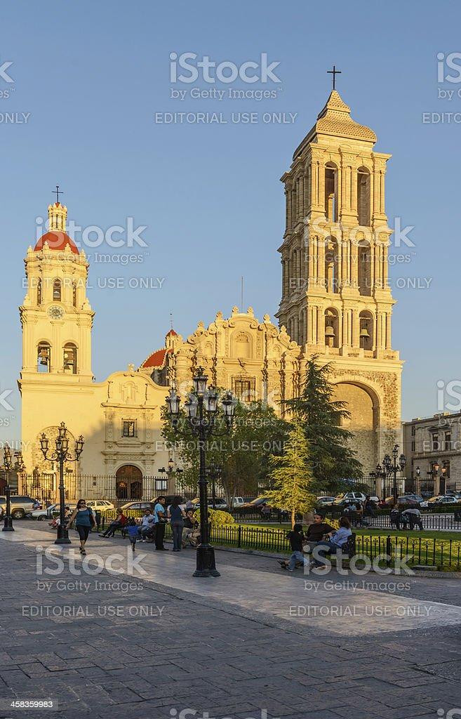 Catedral de Santiago in Saltillo, Mexico stock photo