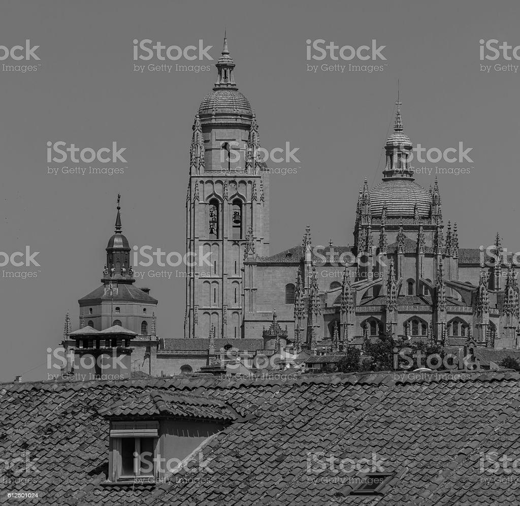 Catedral de Segovia II stock photo