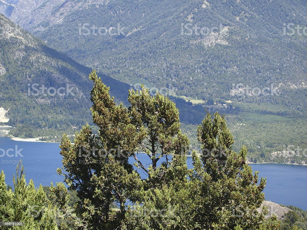 Catedral Hill and Lake stock photo