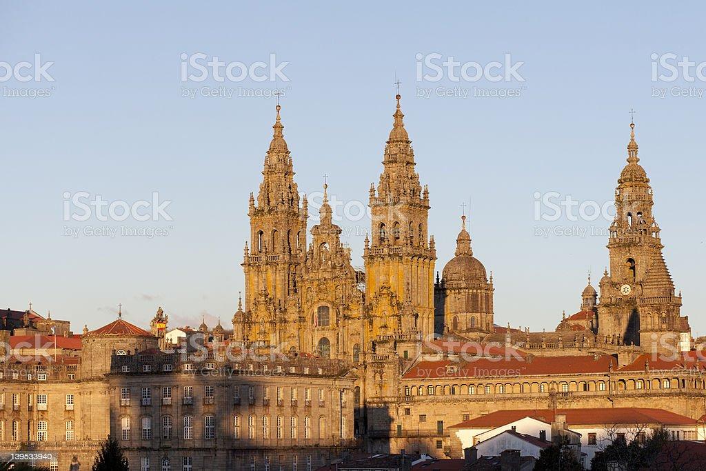 Catedral in Santiago de Compostela stock photo