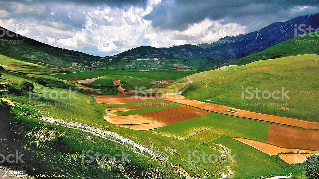 Catelluccio (Umbria, Italy) stock photo