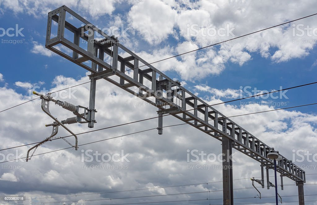 Catenary on the Great Western Mainline stock photo