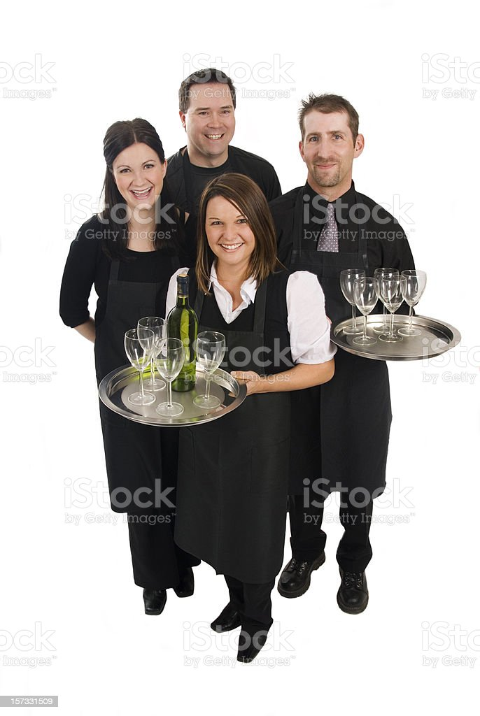 Caterers or Supermarket staff stock photo