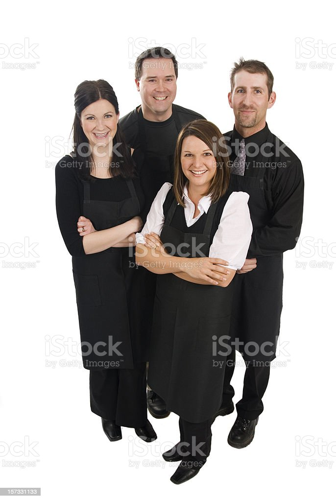 Caterers royalty-free stock photo