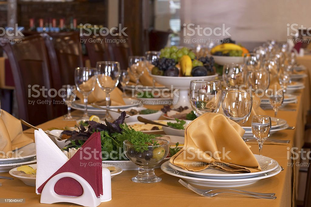 Catering and banquet stock photo