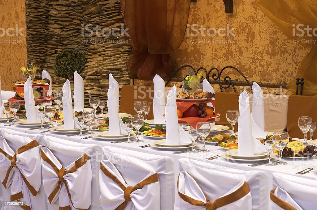 Catering and banquet royalty-free stock photo