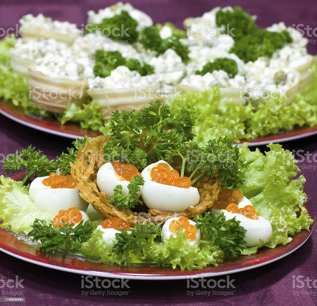 Catering - caviar appetizer royalty-free stock photo