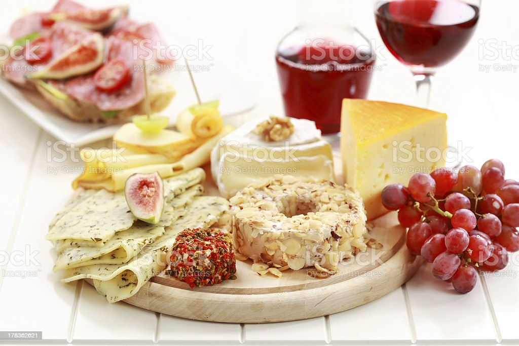 Catering cheese platter royalty-free stock photo